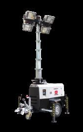 mobiele lichtmastaggragaat met telesopische mast