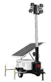 mobiele lichtmast op zonne-energie